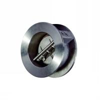 Клапан обратный двухлепестковый подпружиненный межфланцевый DDSCV 16SS