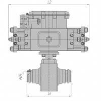 Кран шаровый наземный под приварку РN100 (80) с пневмоприводом и блоком управления БУК