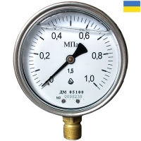 Манометр виброустойчивый ДМ 05100-05М-Г радиальный 0-1,0 МПа М20x1,5