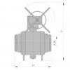 Кран шаровый под приварку РN63 наземный DN150-400