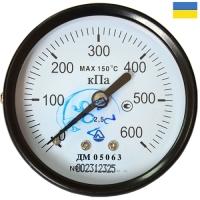 Манометр общетехнический ДМ 05063-01 осевой 0-600 кПа М12x1,5